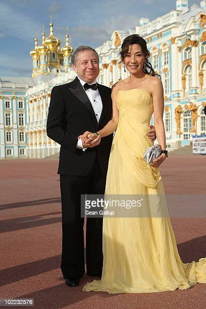 President Jean Todt and wife Michelle Yeoh attend the Mariinsky Ball of Montblanc White Nights Festival at Catherine Palace on June 19 2010 in...
