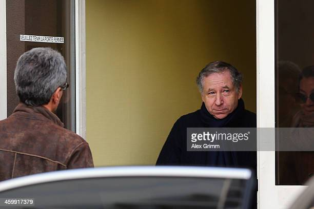 FIA president Jean Todt leaves the Grenoble University Hospital Centre where former German Formula One driver Michael Schumacher is being treated for...