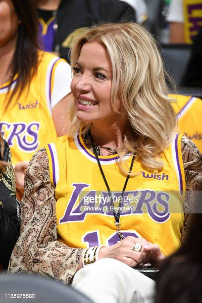 President Jeanie Buss Of The Los Angeles Lakers Is Seen During The Game Against The Golden
