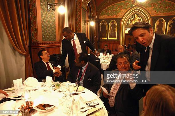 President Jeffrey Webb at the Fortuna Castle Restaurant during the CONCACAF dinner on May 23 2012 in Budapest Hungary