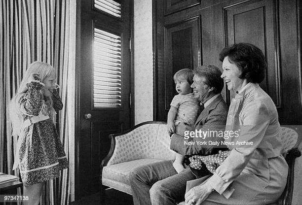President Jimmy Carter with grandson Jason wife Rosalynn and daughter Amy