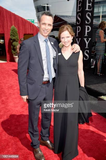 President Jimmy Pitaro and Jean Louisa Kelly attend the The 2018 ESPYS at Microsoft Theater on July 18 2018 in Los Angeles California