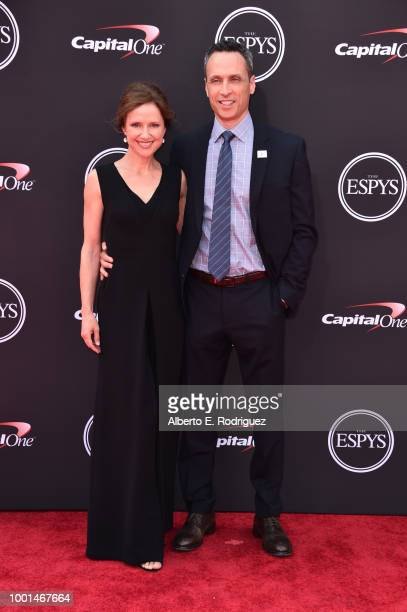 President Jimmy Pitaro and wife Jean Louisa Kelly attend The 2018 ESPYS at Microsoft Theater on July 18 2018 in Los Angeles California