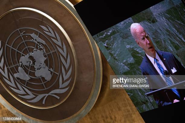 President Joe Biden addresses the 76th Session of the UN General Assembly on September 21, 2021 in New York. -