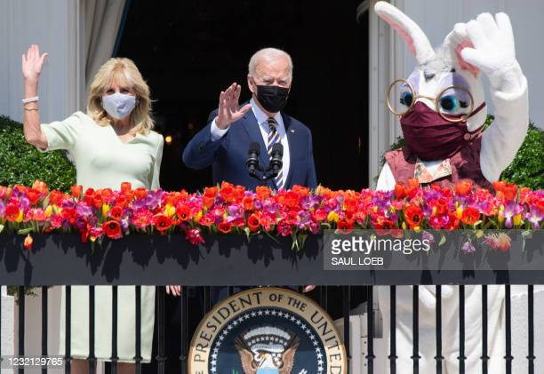 President Joe Biden, alongside First Lady Jill Biden and the Easter Bunny , speaks about the Easter holiday and the traditional White House Easter...