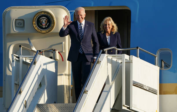 GBR: US President Biden And The First Lady Arrive In The UK Ahead Of The G7 Summit