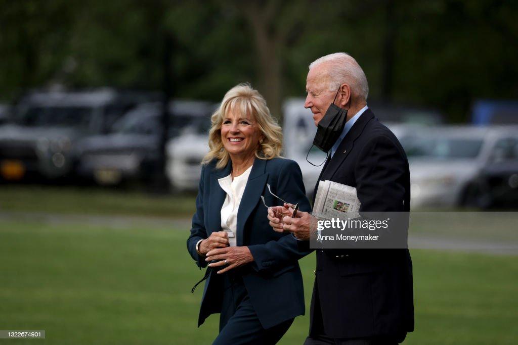 President Biden Departs White House For United Kingdom : News Photo