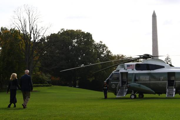 DC: President Biden Departs White House For Europe