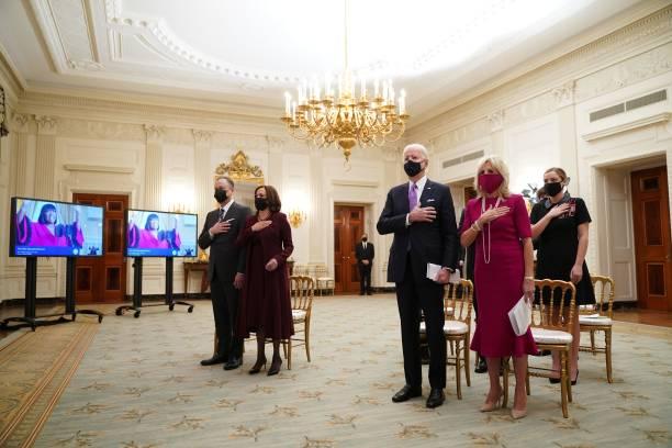DC: President Joe Biden, First Lady Dr. Jill Biden, Vice President Kamala Harris And Second Gentleman Doug Emhoff Watch Virtual Presidential Inaugural Prayer Service
