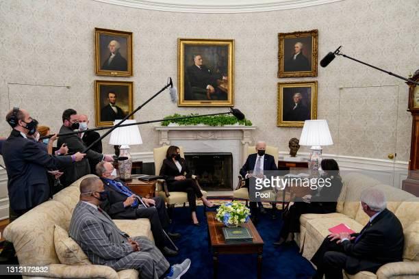 President Joe Biden and Vice President Kamala Harris meet with members of Congress, including Rep. Don Young , Rep. Donald Payne Jr. , Sen. Roger...