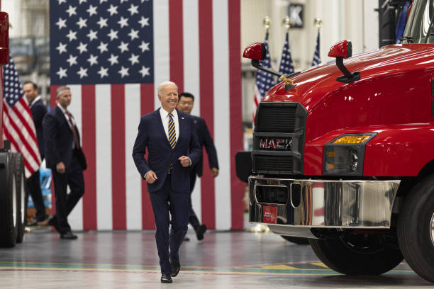 PA: President Biden Delivers Remarks At Mack Trucks Lehigh Valley Operations