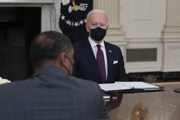 DC: President Biden Holds Roundtable Meeting Stimulus Legislation