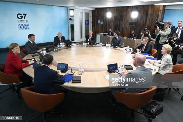 President Joe Biden, Canada's Prime Minister Justin Trudeau, Italy's Prime minister Mario Draghi, President of the European Commission Ursula von der...
