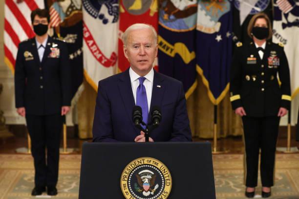 DC: President Biden Delivers Remarks For International Women's Day