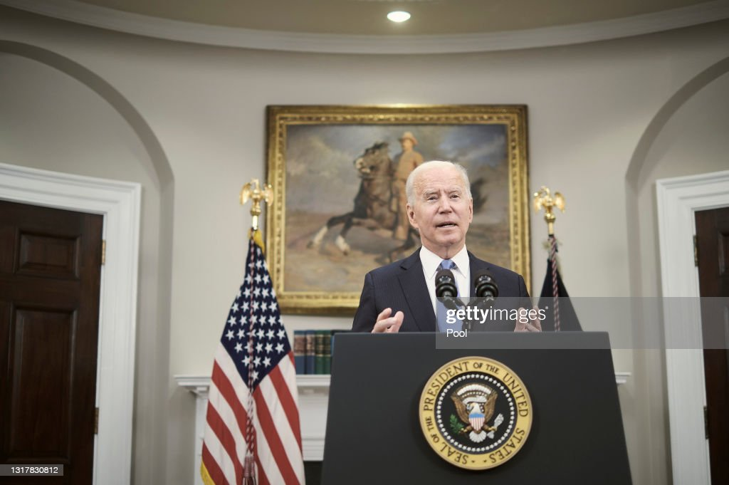 President Biden Delivers Remarks On Colonial Pipeline Hack : News Photo