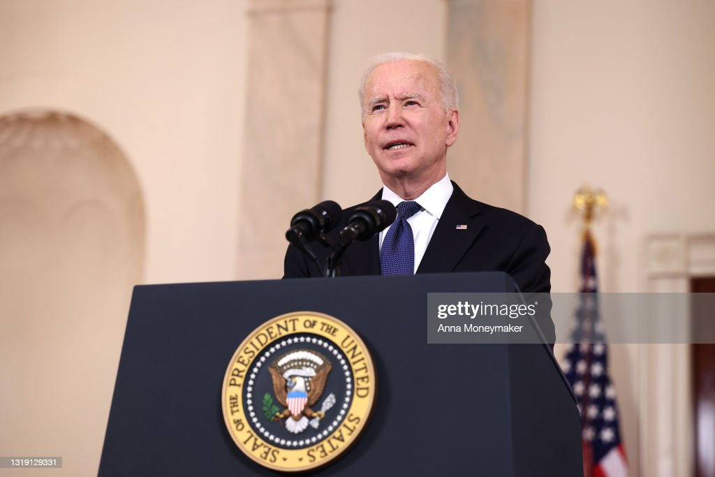 President Biden Delivers Remarks On Conflict In Middle East : News Photo