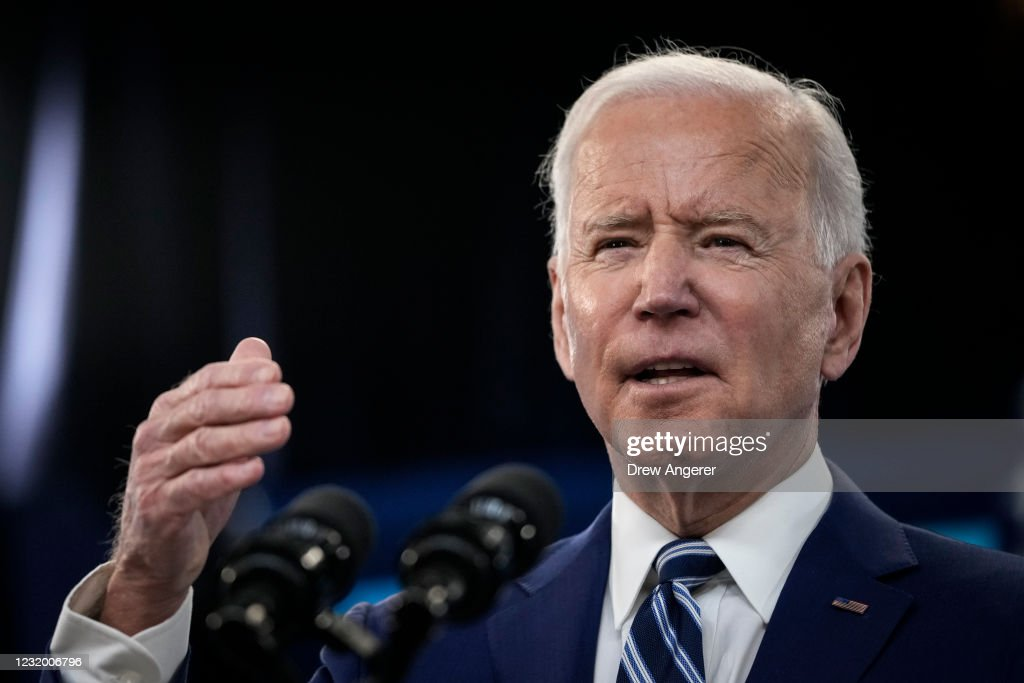 President Biden Delivers Remarks On COVID-19 Response And State Of Vaccinations : ニュース写真