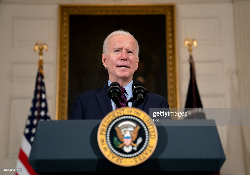 President Biden Delivers Remarks On The Economy And Need For American Rescue Plan : ニュース写真