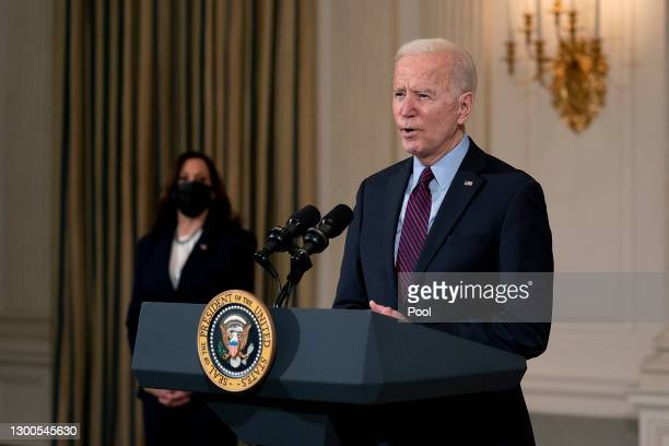 President Joe Biden delivers remarks on the national economy and the need for his administration's proposed $1.9 trillion coronavirus relief...
