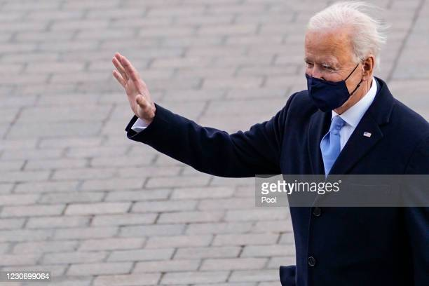 President Joe Biden departs after his inauguration on January 20 in Washington, DC. After today's inauguration ceremony Joe Biden becomes the 46th...