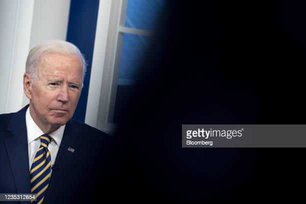 President Joe Biden during a Major Economies Forum on Energy and Climate in the Eisenhower Executive Office Building in Washington, D.C., U.S., on...