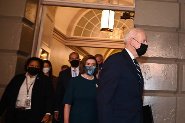 DC: House Democrats Meet Behind Closed Doors To Discuss Legislation With Pres. Biden