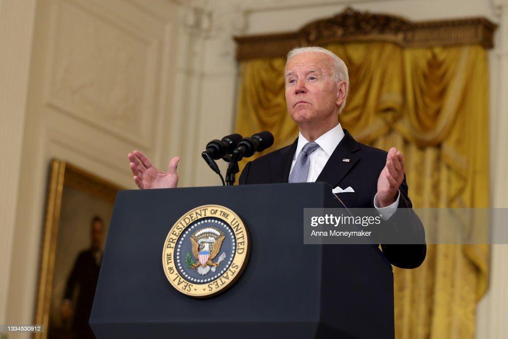 President Biden Delivers Remarks On Afghanistan : News Photo