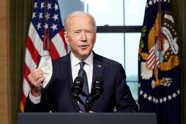 DC: President Biden Delivers Address On Afghanistan From White House Treaty Room