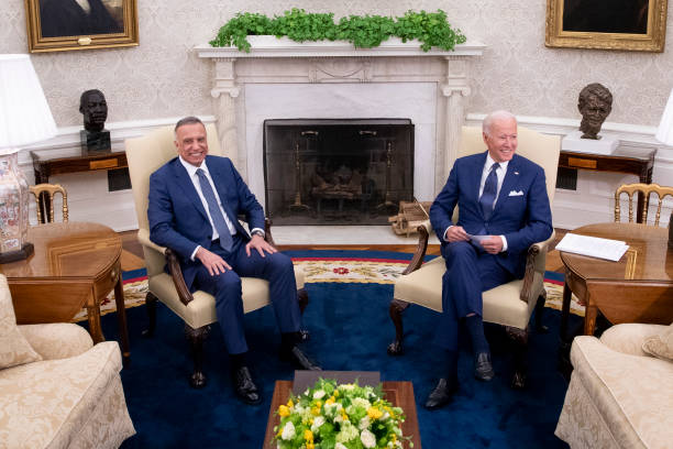 DC: President Biden Meets With Iraqi PM In The Oval Office