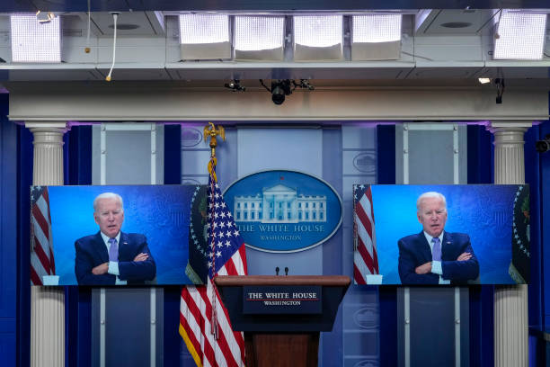 DC: President Biden Meets Virtually With Bipartisan Group Of Governors
