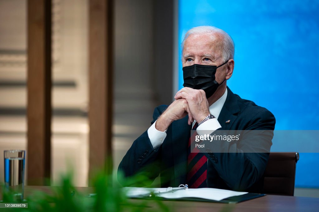 President Biden And Vice President Harris Participate In Virtual Leaders Summit On Climate : ニュース写真