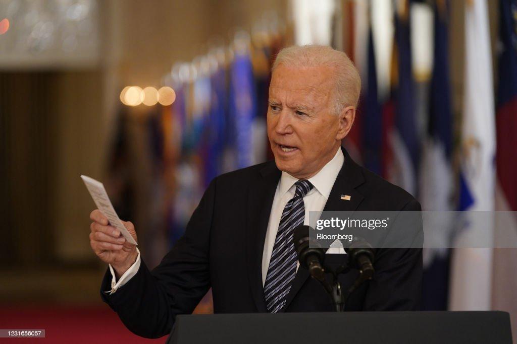 President Biden Delivers Address To Nation On Covid-19 Pandemic : ニュース写真
