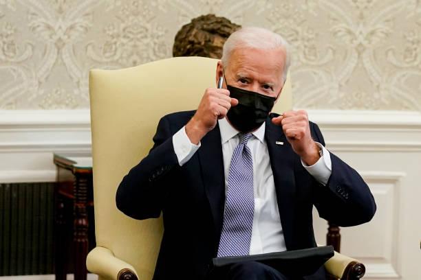 DC: President Biden Meets With Congress Members To Discuss American Jobs Plan