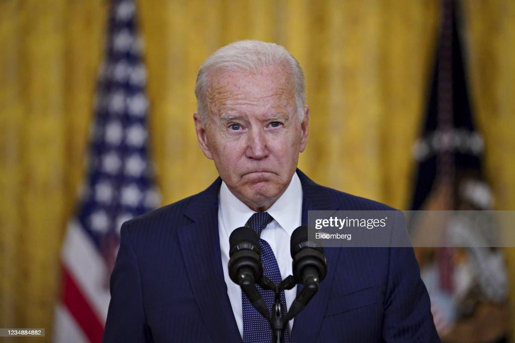 President Biden Delivers Remarks On Terror Attack At Hamid Karzai International Airport : ニュース写真