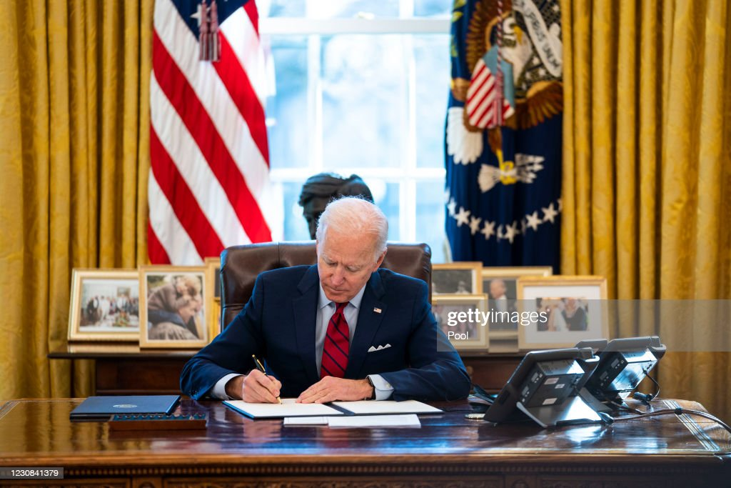 President Biden Signs Executive Orders On Health Care Access : News Photo