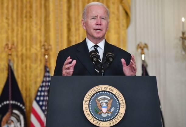 DC: President Biden Speaks In The White East Room Before Departing For Europe
