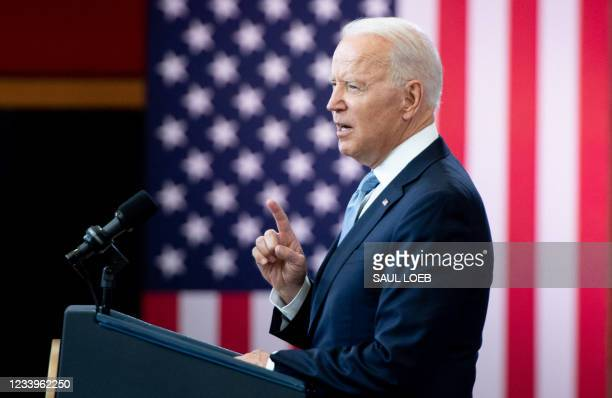 President Joe Biden speaks about voting rights at the National Constitution Center in Philadelphia, Pennsylvania, July 13, 2021.