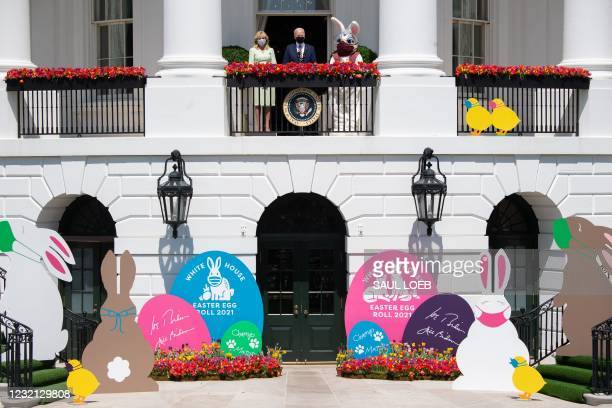 President Joe Biden speaks, alongside First Lady Jill Biden and the Easter Bunny , about the Easter holiday and the traditional White House Easter...