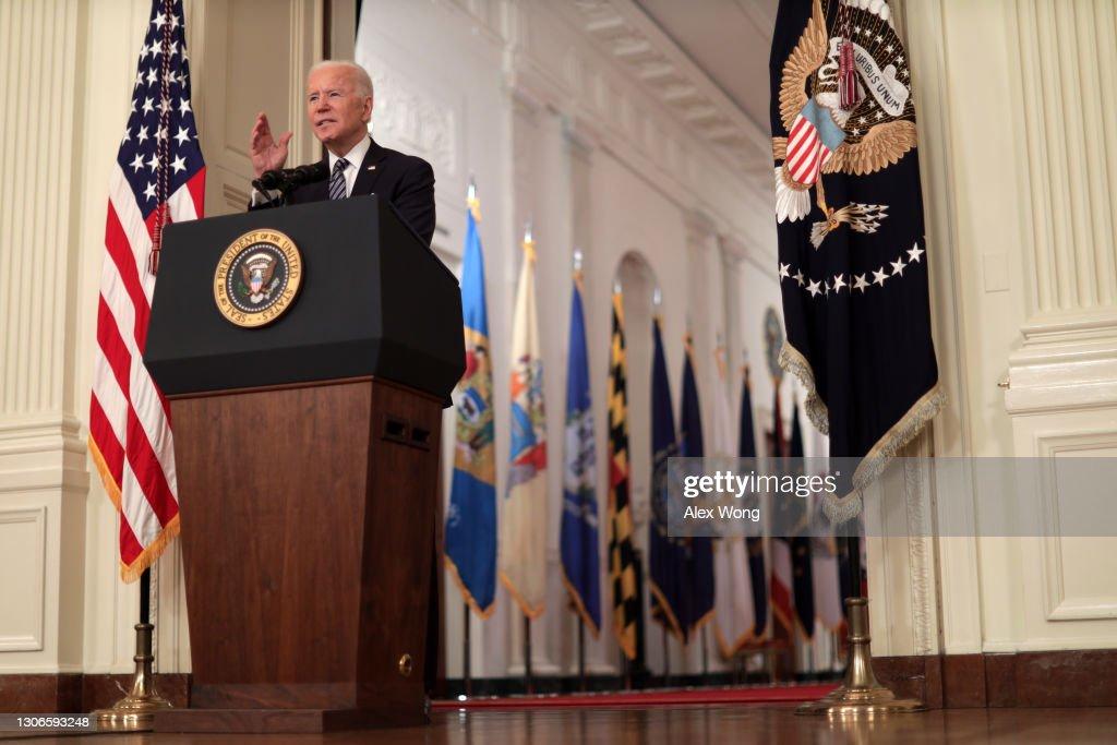 President Biden Delivers Primetime Address To Nation On Next Phase Of Pandemic : News Photo