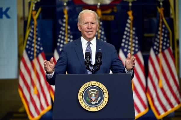 NJ: President Biden Delivers Remarks At NJ Transit Meadowlands Maintenance Complex