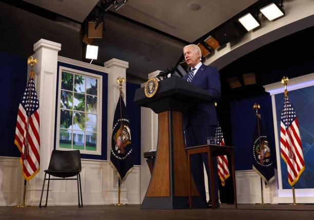 DC: President Biden Receives Covid-19 Booster Shot