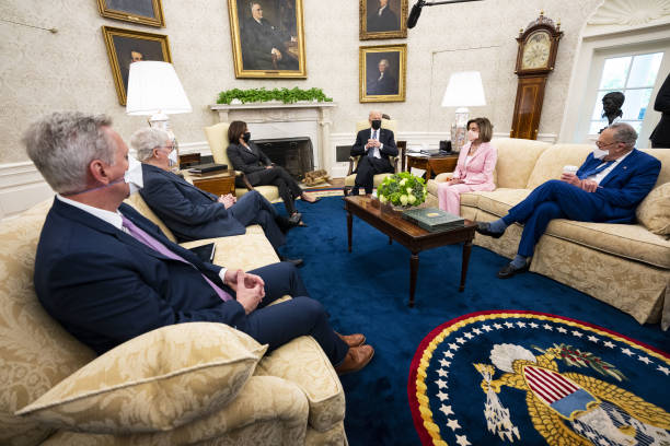 DC: President Biden Meets With Members Of Congressional Leadership