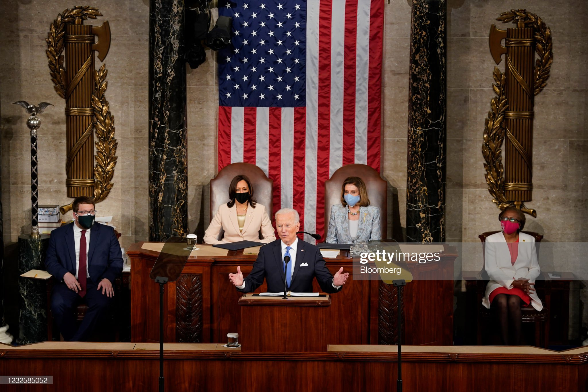 President Biden Delivers First Address To Joint Session Of Congress : News Photo