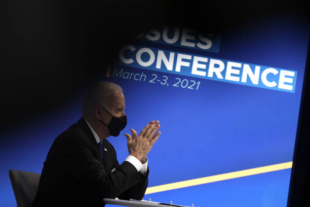 DC: President Biden Holds Virtual Event With House Democratic Caucus