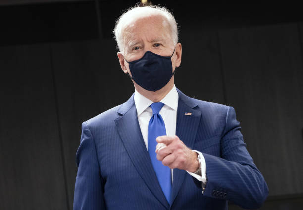 DC: President Biden Visits Veterans Medical Center Covid-19 Vaccine Site