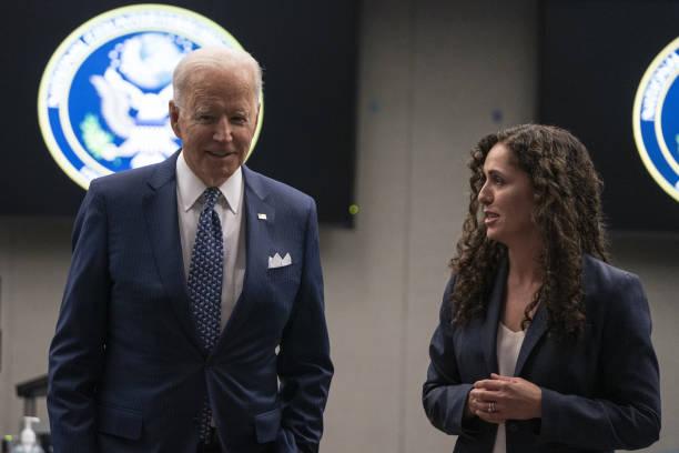 VA: President Biden Visits Office Of Director Of National Intelligence