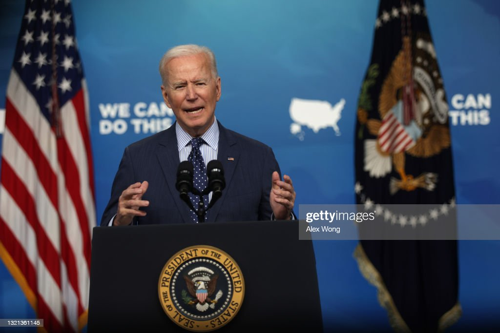President Biden Delivers Remarks On COVID-19 Response And Vaccination Program : News Photo