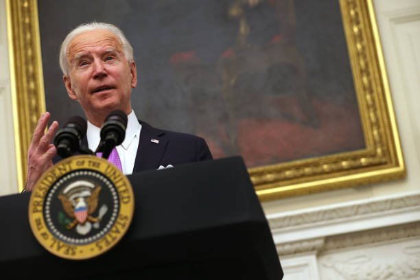 DC: President Joe Biden Discusses His Administration's Covid Response Plan And Signs Executive Orders