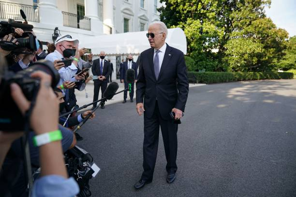 DC: President Biden Departs White House For Weekend At Camp David