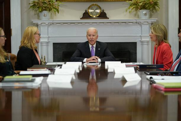 DC: President Biden Meets With Top Officials At The White House